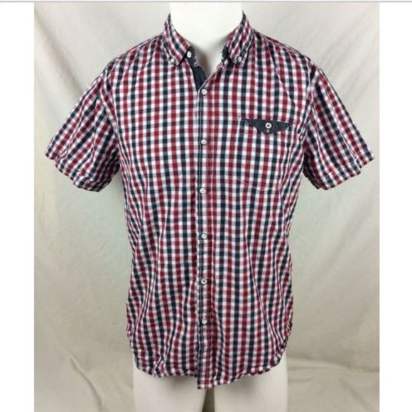 MBX Denim Wear Other - MBX Denim Wear Plaid Shirt Short Sleeve Cotton